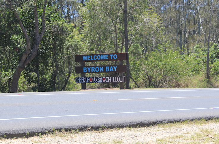 Keine Hippies in Byron Bay