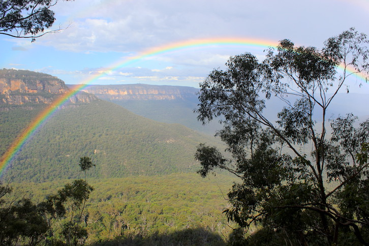 Regenbogen in den Blue Mountains Sydney